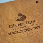 Blue Fox logo engraved